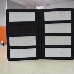 2折页石材样品册厂家批发,优质人造石橱柜塑料样品册PY2138