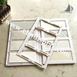 2折页石材样品册厂家批发,优质石英石塑料样品册PY2130
