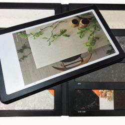 2折页石材样品册厂家批发,优质人造石台面塑料样品册PY2139