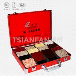 石英石色卡箱厂家,大理石展示铝箱,可定制优质人造石铝箱XL101