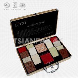 石英石手提铝箱定制,铝合金石英石样品箱,人造石英石铝箱XL107
