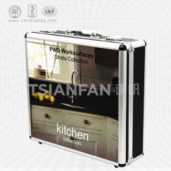 石材手提铝箱,定制手提铝合金箱,铝框手提箱子厂家XL106