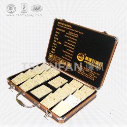 石材样块手提箱,大理石展示箱,人造石铝合金箱厂家批发订做XL114