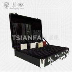 石英石黑色手提箱, 人造石样品包装手提箱厂家批发订做XL115