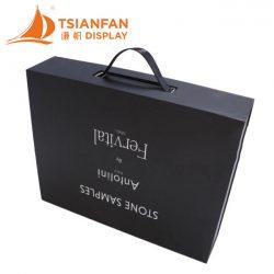 石材样品烤漆手提盒,石材样品包装手提盒厂家供应XS003
