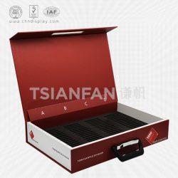 石英石样品包装展示盒, 供应石英石实木烤漆样品盒XS005
