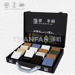 人造石铝合金箱厂家 旭展铝箱铝盒大理石色卡箱 XL086